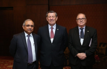 Left: Mr. Chandrajit Banerjee, Director General of CII-Centre: Mr. Rodolfo Nin Novoa, Minister of Foreign Affairs of Uruguay�Right: H.E. Mr. Carlos Orlando, Ambassador of Uruguay to India.