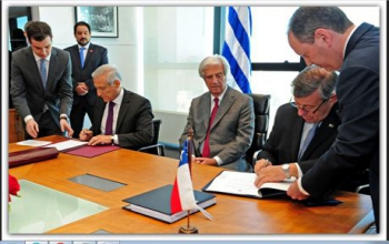 Foreign Ministers of Uruguay and Chile sign free trade agreement