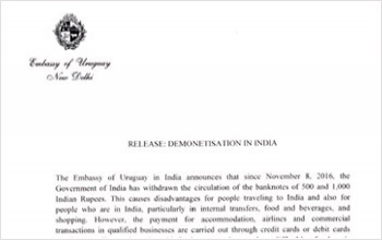 Release: Demonetisation in India