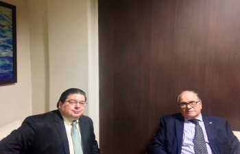 Meeting with the Dean of Diplomatic Corp in Delhi, Ambassador of Dominican Republic, H.E. Mr. Hans Dannenberg Castellanos