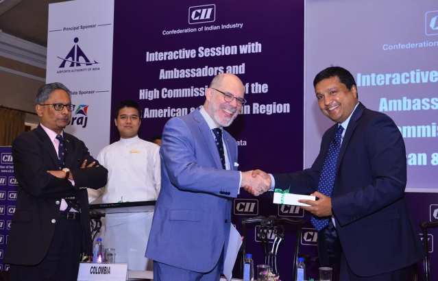 Ambassador Mr. Álvaro A. Malmierca at the CII Interactive Session with Latin American and Caribbean Ambassadors and High Commissioners to India in Kolkata, India.